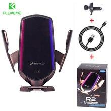 Floveme R2 Qi Automatische Spannen 10W Draadloze Oplader Snel Opladen Gps Mount Houder Ondersteuning Voor Iphone 12 11 Pro xiaomi Huawei