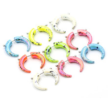 1Pair Acrylic Colorful Fake Ear Taper Expander Cheater Plugs Piercing Stretchers Jewelry