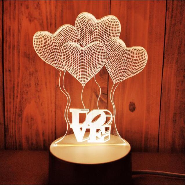 Lampe de Table à un design multi-design, lumière de Table à un style USB en 3D, lampe de nuit à méne en ABS + en résine pour les enfants, cadeau de la chambre à coucher