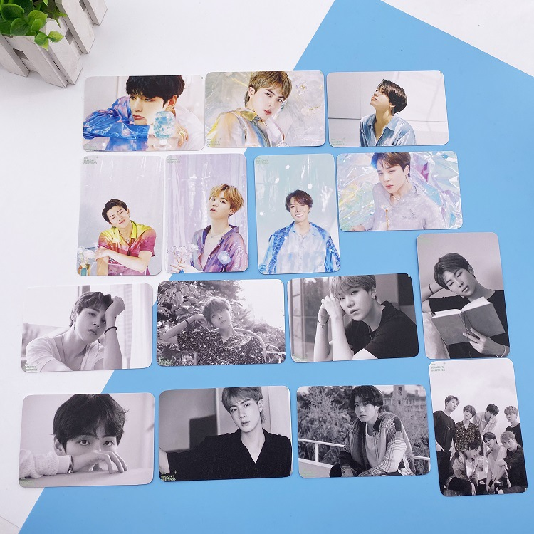 Kpop Bangtan Boys Photocard Album Same Paragraph Paper Poster HD K-pop Bangtan Boys Lomo Cards Photo Card V JIMIN SUGA JUNGKOOK