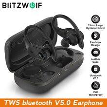 BlitzWolf BW FYE10 TWS bluetooth 5.0 Earphone Wireless Earphone Sports Earhooks Earbuds 13mm Large Dynamic Driver Bass Stereo