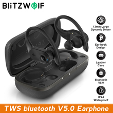 BlitzWolf BW-FYE10 TWS bluetooth 5.0 Earphone Wireless Earphone Sports Earhooks Earbuds 13mm Large Dynamic Driver Bass Stereo