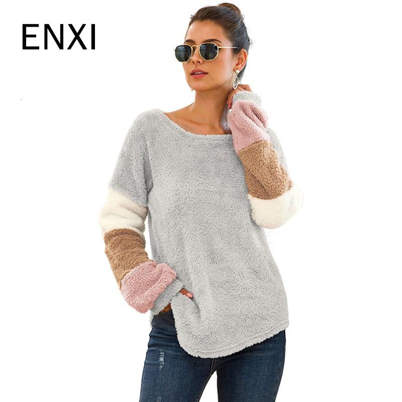ENXI Three Colour Sleeve Pregnancy Shirt Fashion Maternity Clothes Coat Pregnancy Clothes Maternity Tops Winter Autumn