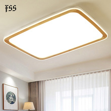 Modern Rectangle Wood Ceiling Light LED Ceiling Lights For Living Room Bedroom Decoration Lamps Home Lighting Fixtures AC90-260V modern led ceiling lights living room bedroom chrysanthemum lamps home decoration lighting e27 ceiling lamps ac120 240v