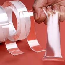 Cinta adhesiva de doble cara reutilizable impermeable para el hogar, Nano cinta adhesiva de doble cara, impermeable, 3M