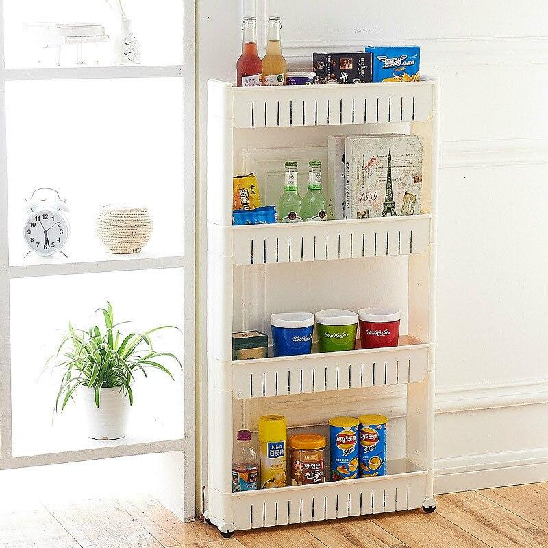 Range support de rangement organisateur support de rangement avec rouleau étagère mobile cuisine salle de bain étagère armoires de cuisine organisateur