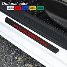 4 шт. углеродного волокна автомобиля порогов и устойчивая к царапинам Стикеры для hyundai ACCENT ELANTRA TUCSON IX20 Veloster аксессуары