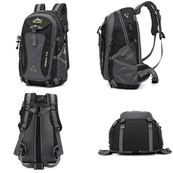 40L unisex waterproof men backpack travel pack sports bag pack Outdoor Mountaineering Hiking Climbing Camping backpack for male 2