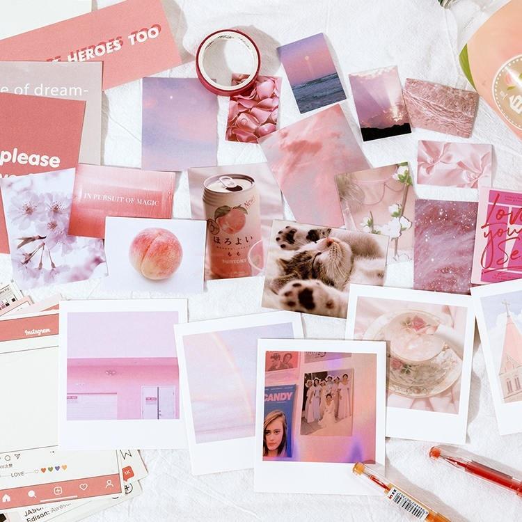 JIANWU album sastera siri pita bahan pelekat kertas set asas hiasan - Pad nota dan buku nota - Foto 2