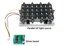 Параллельный UV светильник источник ультрафиолетовых лучей светодиодный Подсветка модуль для 5,5 6 дюймов 3D ЖК-дисплей принтер монитор УФ отв...
