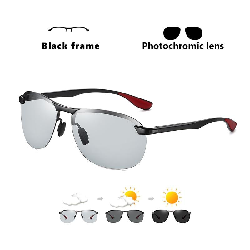 2020 Brand Photochromic Men Sunglasses Polarized Glasses Day Night Vision Driving Sun Glasses For Male Oculos De Sol Masculino 7