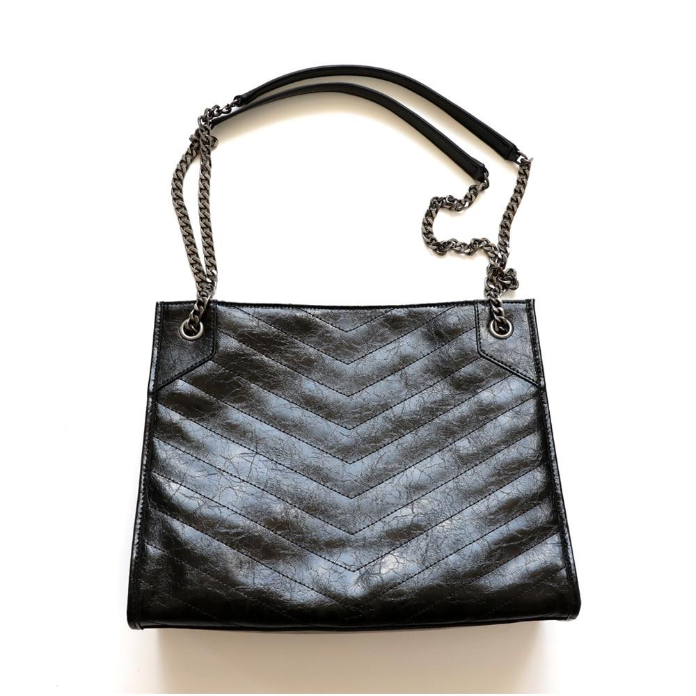 Stunning2020 Bag Bulk Shopping Tote Oil Wax Women\'S Leather Cowhide Big Book Bags