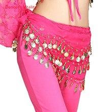 Ceinture de danse du ventre à paillettes, pampille, écharpe de hanche pour femmes, ceinture de danse du ventre, ligne ondulée, pièce de monnaie