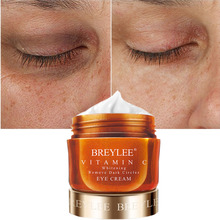 BREYLEE Vitamin C Whitening Remove Dark Circles Eye Cream Fade Freckles VC Eyes Care Cream Brightening Skin Anti-Puffiness 20g