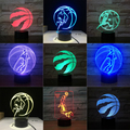 Баскетбольные рапторы 3D LED ночник для клуба  дома  офиса  комнаты  Декор  свет  подарок для ребенка  цветная настольная лампа  Прямая поставка