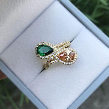 Pear Cut Emerald Morganite Gemstone 18K Yellow Gold Ring Rings 75% OFF 2ced06a52b7c24e002d45d: 10|5|6|7|8|9