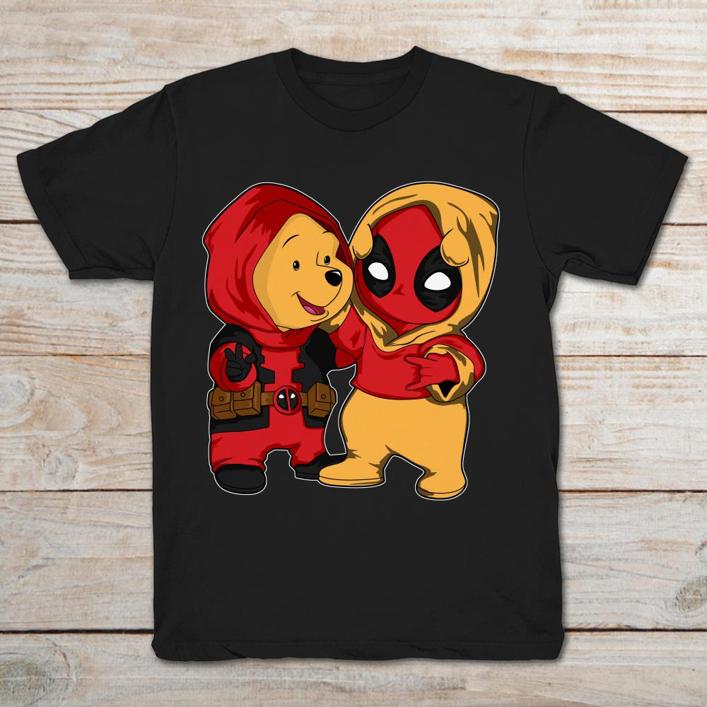 Deadpool And Winnie-The-Pooh Funny T-Shirt