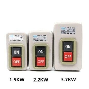 цена на TNHA2-BS211B BS216B BS230B Control Push Button Switch AC220V 380V ON-OFF 2 position 3.7KW Three phase Power Start 50Hz/60Hz