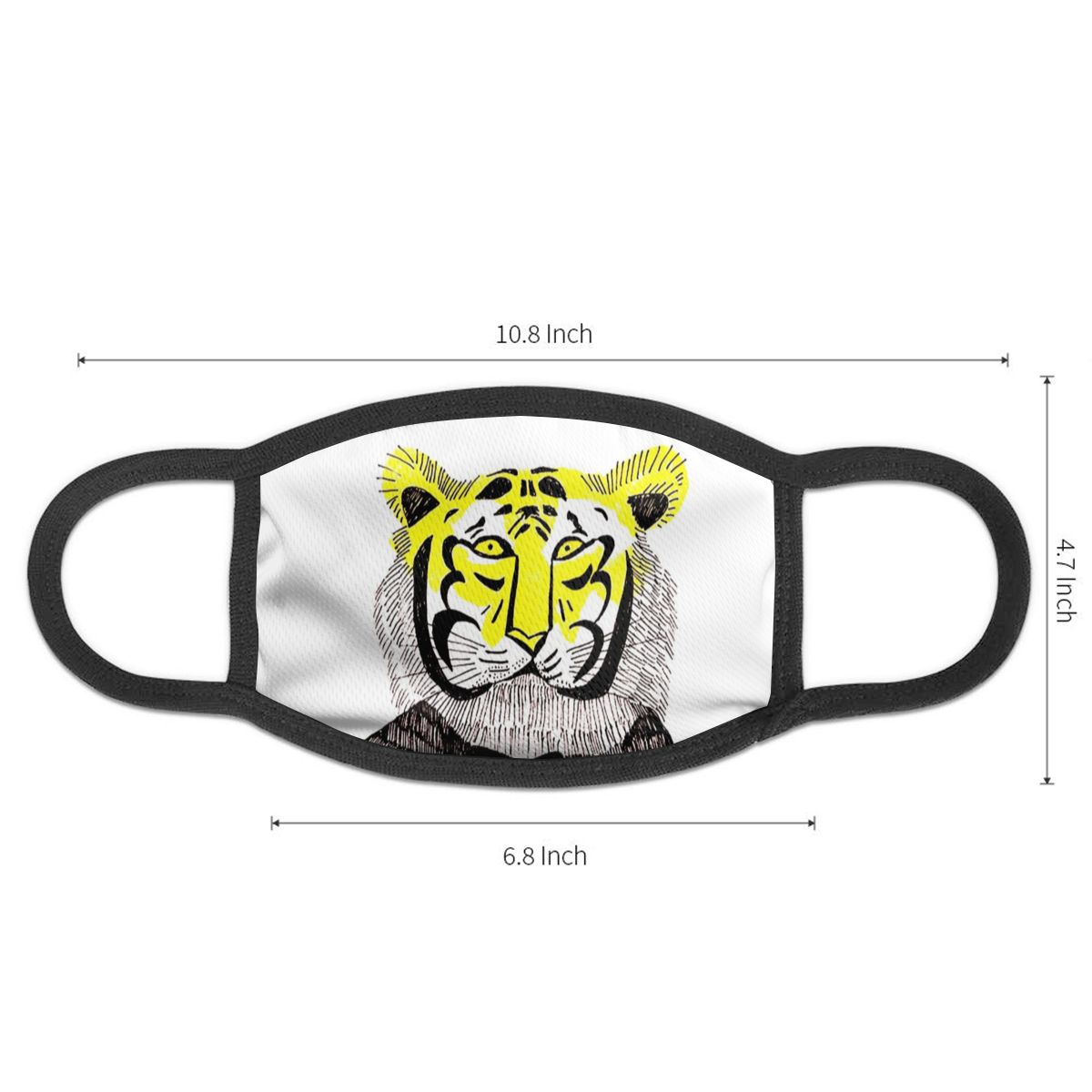 NOISYDESIGNS Cute Mask Animals Tiger Printed Mouth Masks Black Mask Mouth Half Face Custom Mask Printing Mouth Face Mask