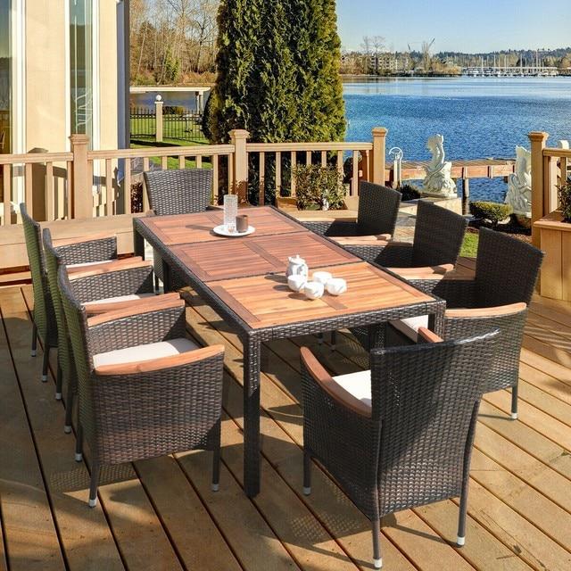 9 Pcs Patio Dining Table Set 1