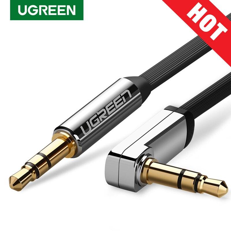 Ugreen Cable AUX Jack 3,5mm Cable de Audio Jack de 3,5mm Cable de altavoz JBL para auriculares de coche Xiaomi redmi note 5 Oneplus 5t Cable AUX