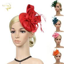 Красные головные уборы для свадебной вечеринки женские украшенные