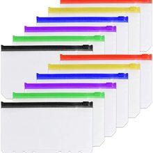 Leaf Binder-Pockets Zipper-Folder Cash-Envelopes Notebook-Cover Document-Filing-Bag Clear