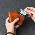 Ein Leder Zigarette Box Männer Geschenk Zigarette Fall Mens Geschenke Zigarette Abdeckung Rauch Tabak Beutel Gemüse Gegerbtem Leder|Zigarette Zubehör|Heim und Garten -