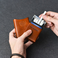 One Leather Cigarette Box Men Gift Cigarette Case Mens