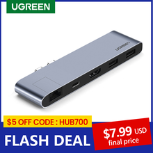 UGREEN-adaptador para MacBook Pro Air, USB C HUB Dual tipo C a Multi USB 3,0 4K HDMI para MacBook Pro Air, Thunderbolt 3, Dock USB C 3,1, Puerto tipo C HUB