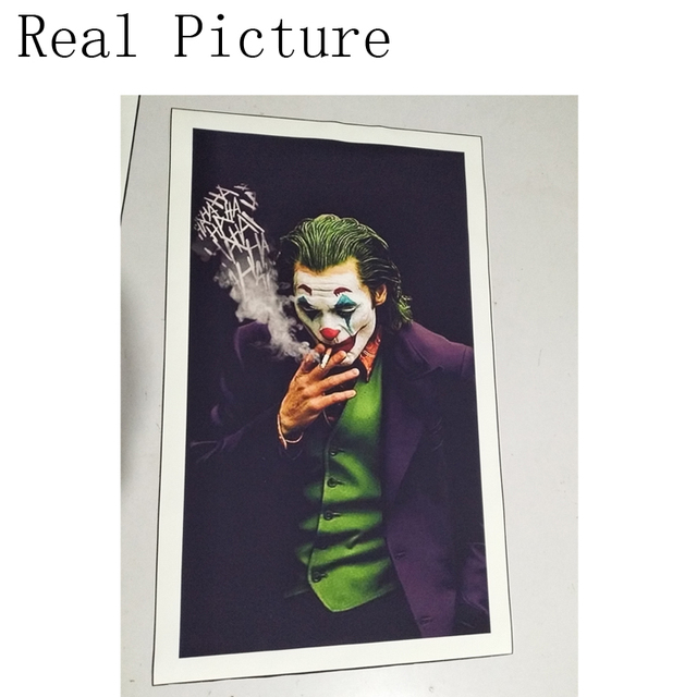Joker Wall Art Canvas Painting Posters Prints HD Comics Movie 2019 Joker Joaquin Phoenix Picture for Living Room Home Decor