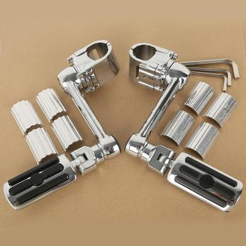 Motorcycle 1 1/4'' Highway Chrome Front Foot pegs Footrest For Honda GL1800 GOLDWING 1 set motorcycle front footrest pedal foot pegs foot pegs pedals for honda cb250 cbr600f cb600f nc700