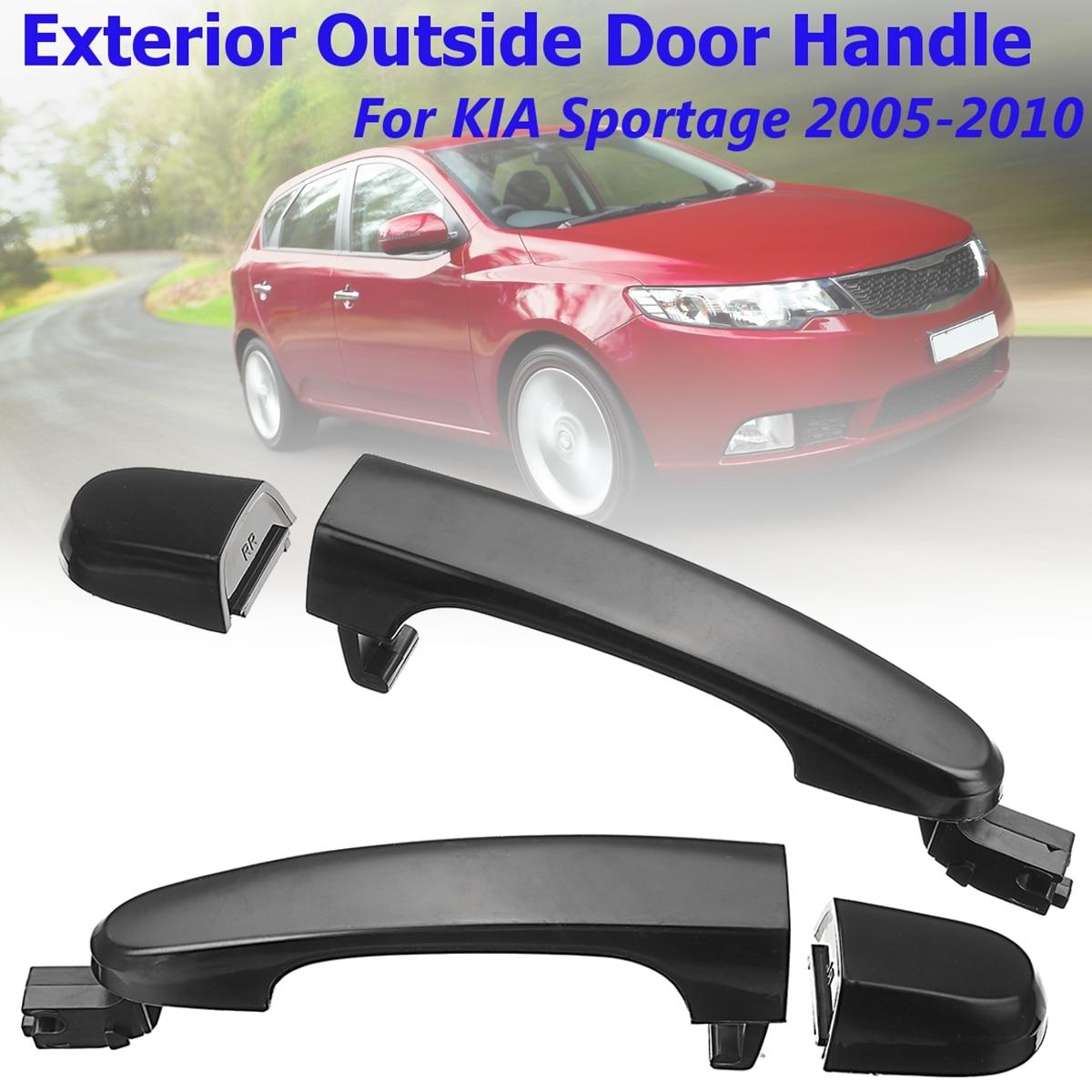 4Pcs Front Rear Left Right Exterior Door Pull Handles For KIA Sportage 05-10