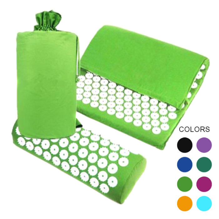 SEC88 Acupressure Massage Mat with Pillow set for Stress Pain and Tension Relief 8