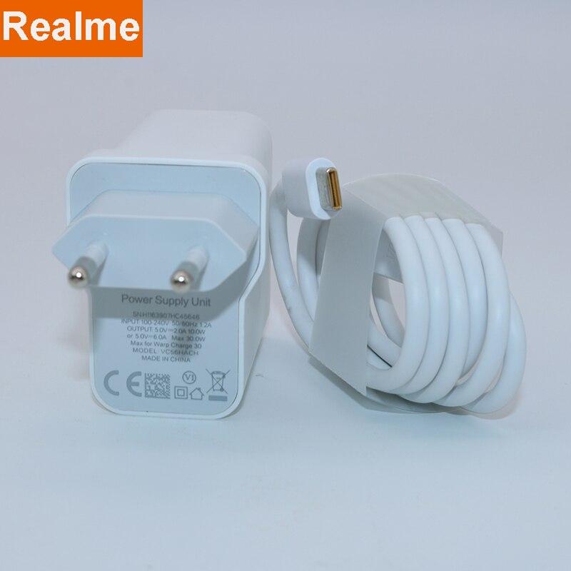 Original realme 6 pro carregador 30w adaptador de energia carga super 5v 6a charing rápido para realme x50 pro realme x x2 x3