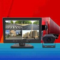 Grabadora de conducción de camiones grande, visión nocturna HD, 360 grados, cuatro vías, todo en uno, imagen inversa, autobús, cámara de salpicadero