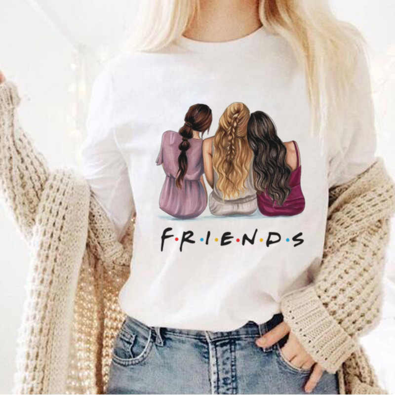 Friends Print T-Shirt Women 2020 New Summer Short Sleeve Leisure T Shirt Tops Tee Casual Ladies Female Tshirt Plus Size Clothing