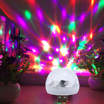 Car Interior Portable Voice Control Colorful LED Atmosphere Universal ABS Neon Lights RGB Decor Music Lamp For USB Phone Stage image