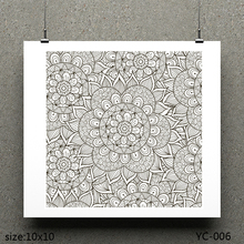 ZhuoAng Flower coat of arms Clear Stamps For DIY Scrapbooking/Card Making Decorative Silicon Stamp Crafts
