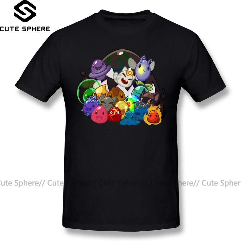 Slime Rancher T Shirt Slime Rancher T-Shirt 100 Cotton Plus Size Tee Shirt Funny Fashion Short Sleeves Graphic Male Tshirt