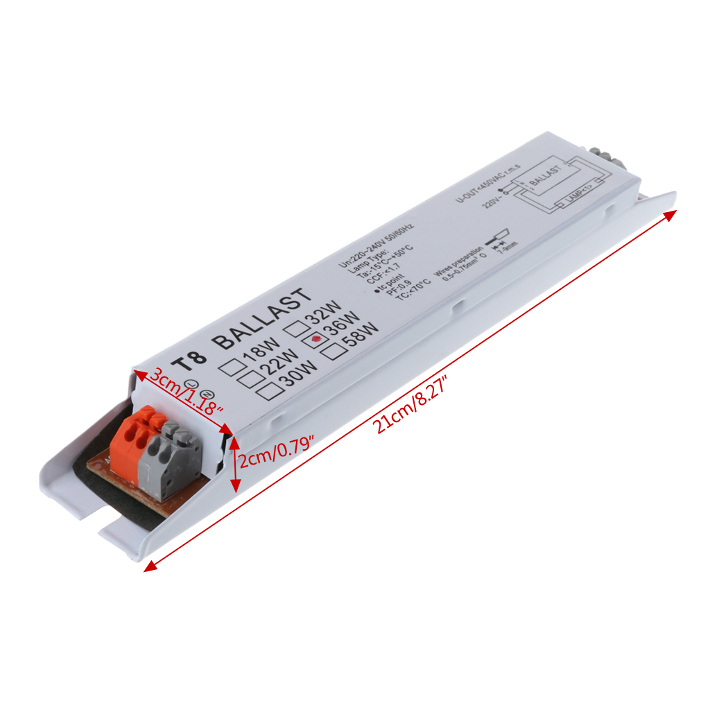 Ac 220v 36w t8 электронный балласт люминесцентная лампа балласты