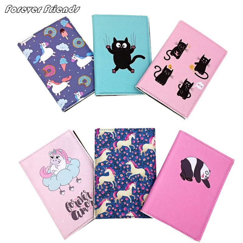 Panda Cartoon Passport Cover Waterproof Passport Passport Clip ID Bag