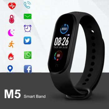 M5 Smart Watches Bluetooth Bracelet Sport Watch Fitness Tracker Pedometer Heart Rate Monitor SmartBand Wristband for Android IOS