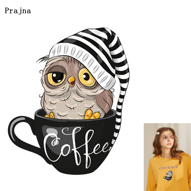 Prajna Animal Printed Iron-On Transfers Heat Transfers For Clothes Thermal Transfer Vinyl Ironing Stickers Apparel Accessory F