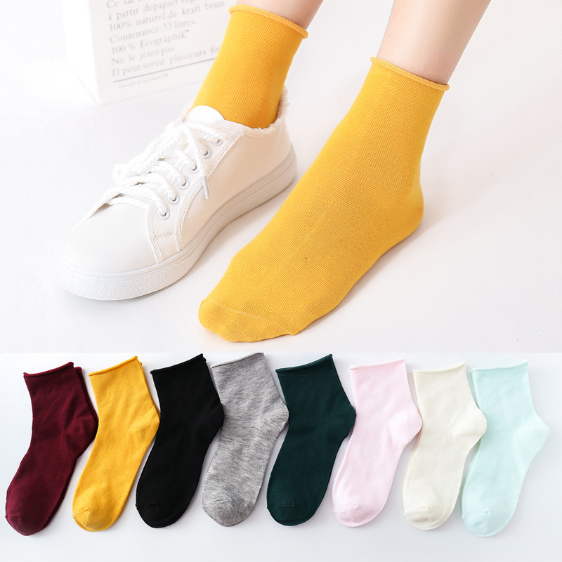 1 Pair Candy Color Women Cute Cotton Short Sock Spring Summer Autumn Students Girls Ankle Sox Soft Breathable Casual Socks