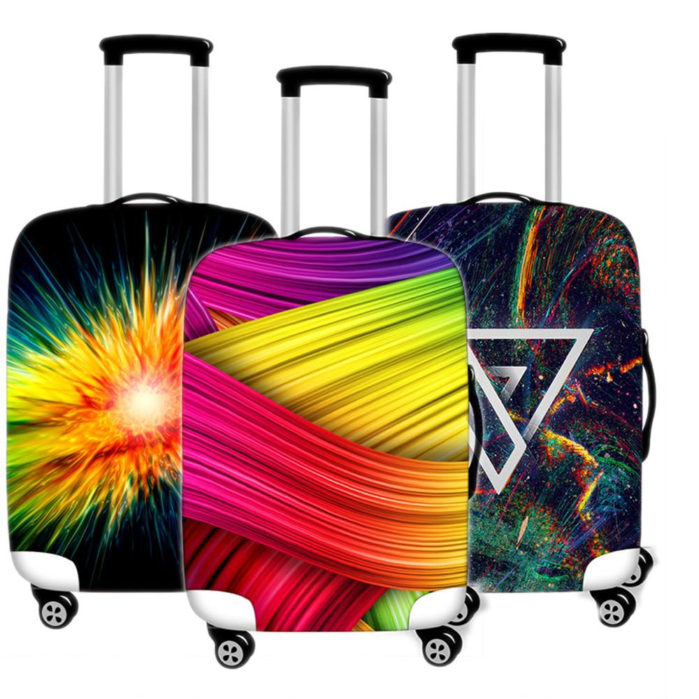 Simple Art Suitcase Case Protective Cover Men Travel Luggage Thicken Dust Cover Accessories Suitcases Organizer 18-32 Xl Inch