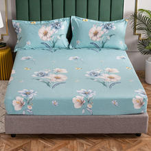 New Bedding Thicken Warm Mattress Cover Brushed Bed Sheets Winter Fitted Sheets Printing Protector Bedspread