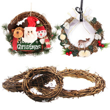 10-30cm Christmas Decoration Rattan Wreath Decor Garland Wreaths Wall Hanging Ornament Decorations For Home