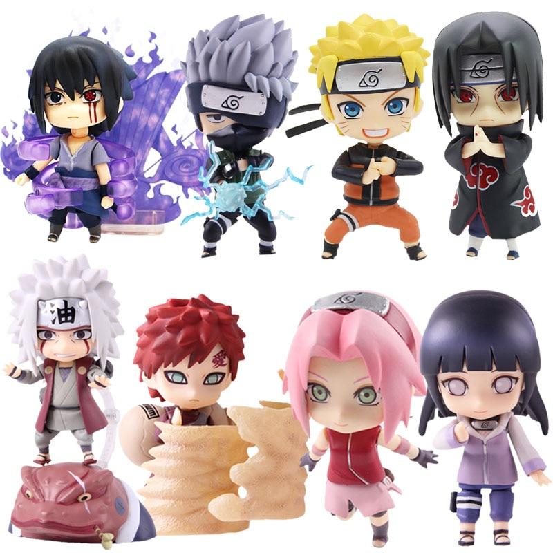 Naruto Shippuden Uzumaki Naruto 682 Uchiha Sasuke 707 Hyuuga Hinata 879 Hatake Kakashi 724 Jiraiya 886 PVC Action Figure Toy(China)