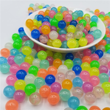 200Pcs 6-12mm Glow In The Dark Fishing Loose Spacer Beads For Woman Men Luminous Necklace Bracelet Jewelry Making Acrylic